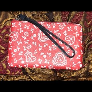 NWT COACH RED AND WHITE WRISTLET